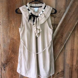 Motherhood Maternity beige blouse size M